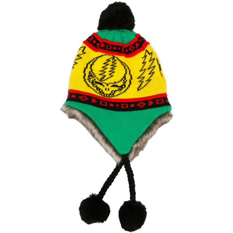 Grateful Dead - Steal Your Face Ski Hat Rasta