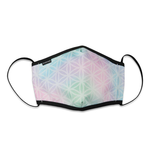 Flower of Life Pastel Face Mask