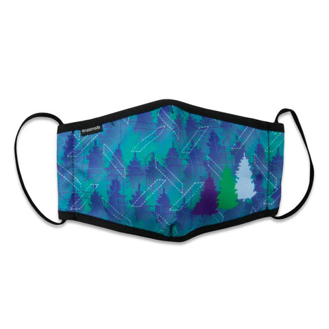 Laser Forest Teal Purple Face Mask