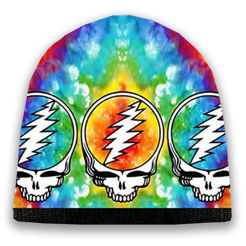 Grateful Dead - Tie Dye Steal Your Face Knit Beanie