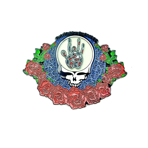 Grateful Dead - Jerry Hand Stealie Pin