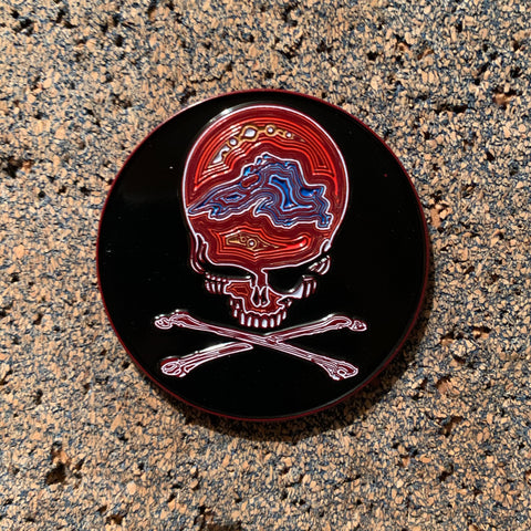 Grateful Dead - Jolly Roger Agate Stealie Pin