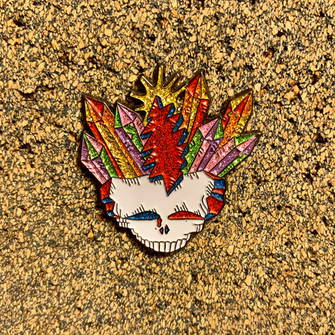 Grateful Dead - Crystal Skull Pin