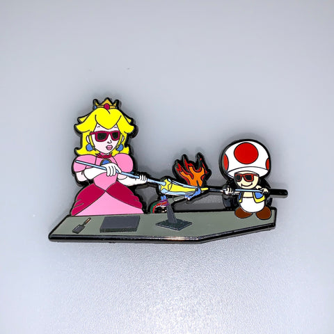 Princess Peach & Toad Millie Artists Pin