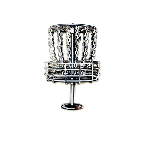 Disc Gold Basket (Silver) Pin