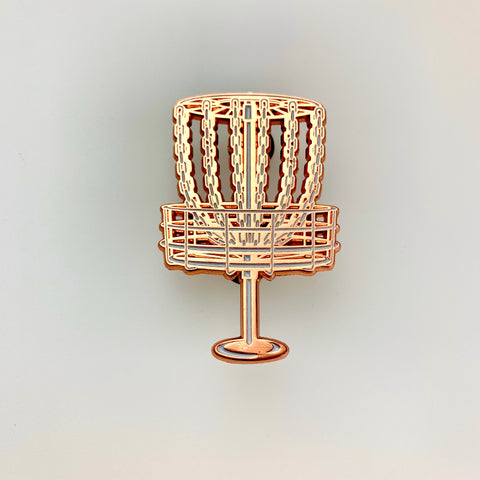Disc Golf Basket (Copper) Pin
