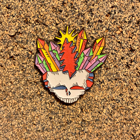 Grateful Dead - Crystal Skull (Glow) Pin