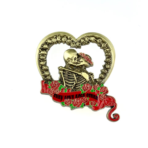 Grateful Dead - They Love Each Other Gold V3 Pin