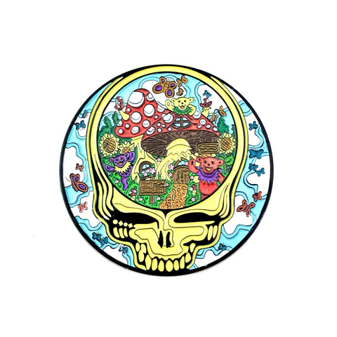 Grateful Dead - Mushroom Frolic Stealie Pin