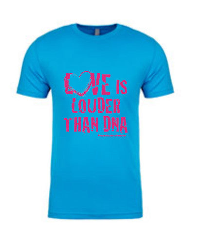 Custom Turquoise Blue Love Is Louder