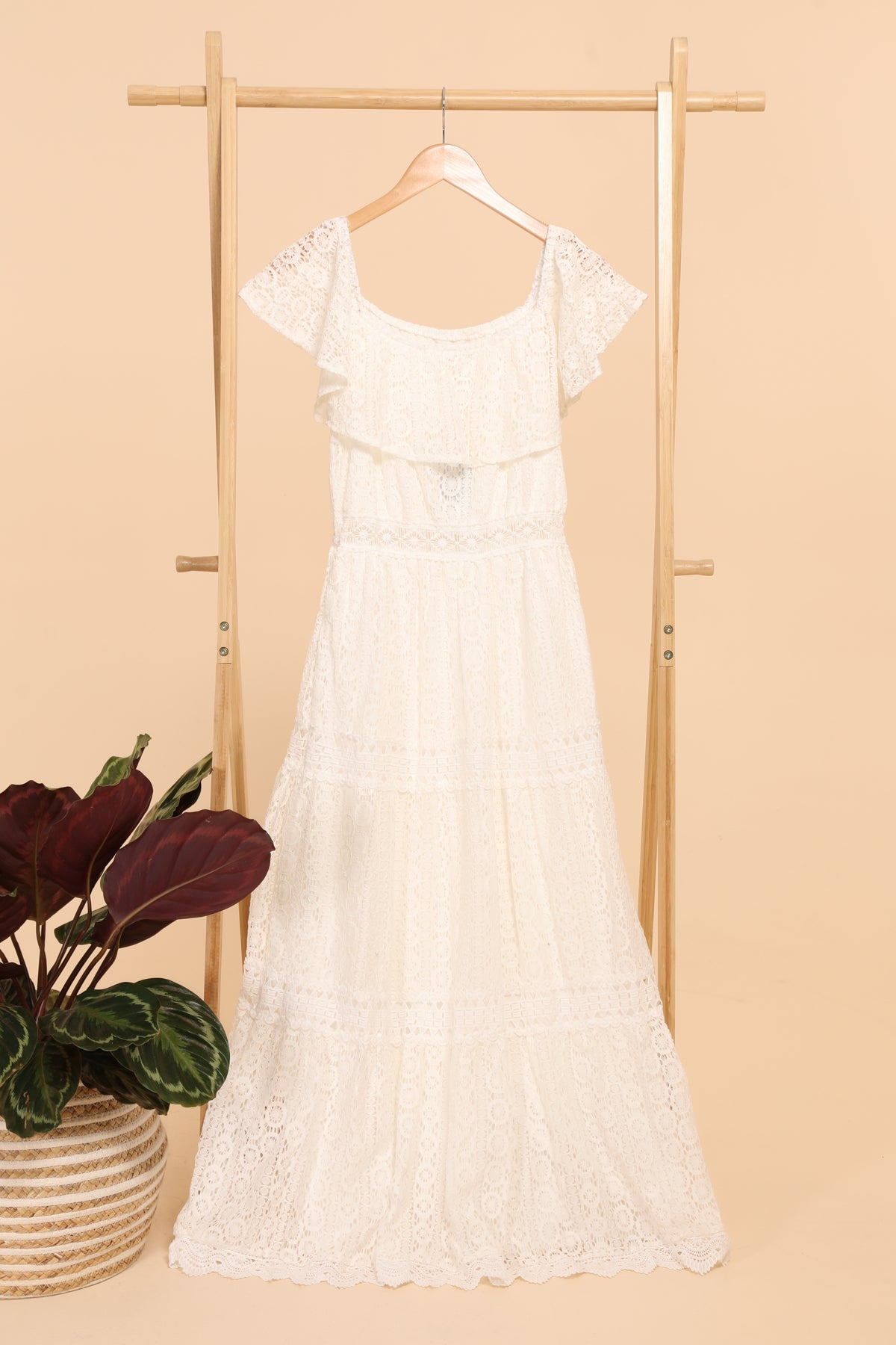 Φόρεμα maxi romantic lace