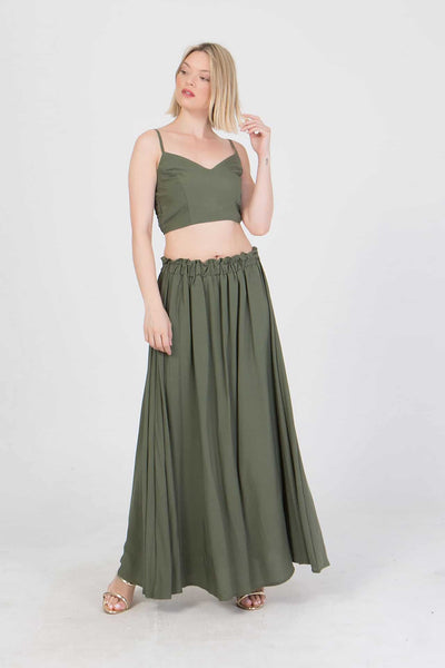 Set top cropped - φούστα maxi