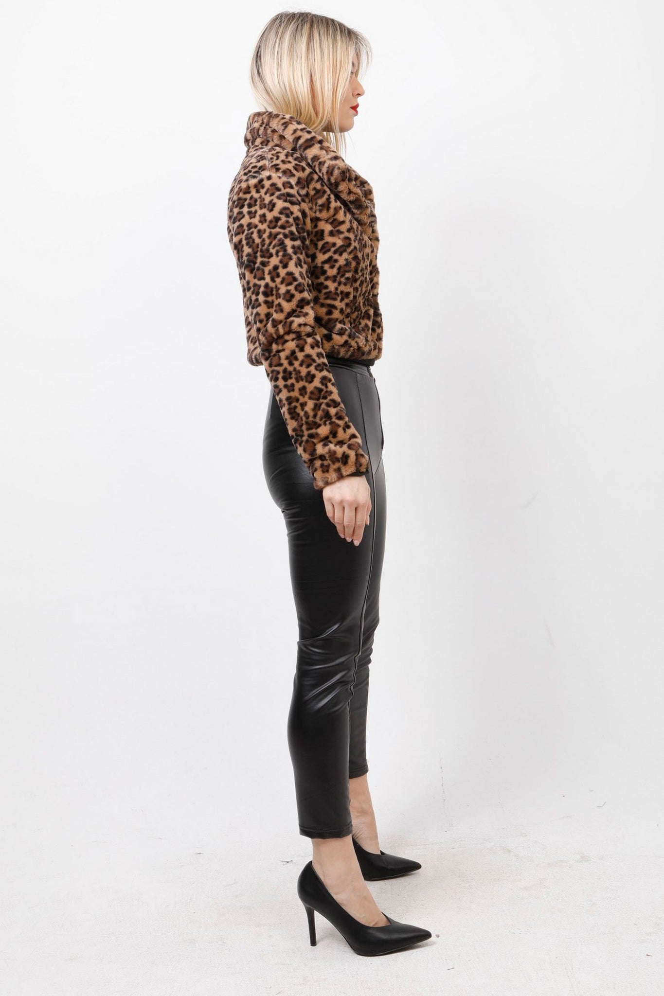Bolero animal printed faux γουνάκι