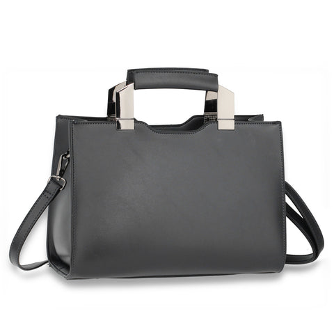 Anna Grace Fashion Tote Bag With Black Metal Work