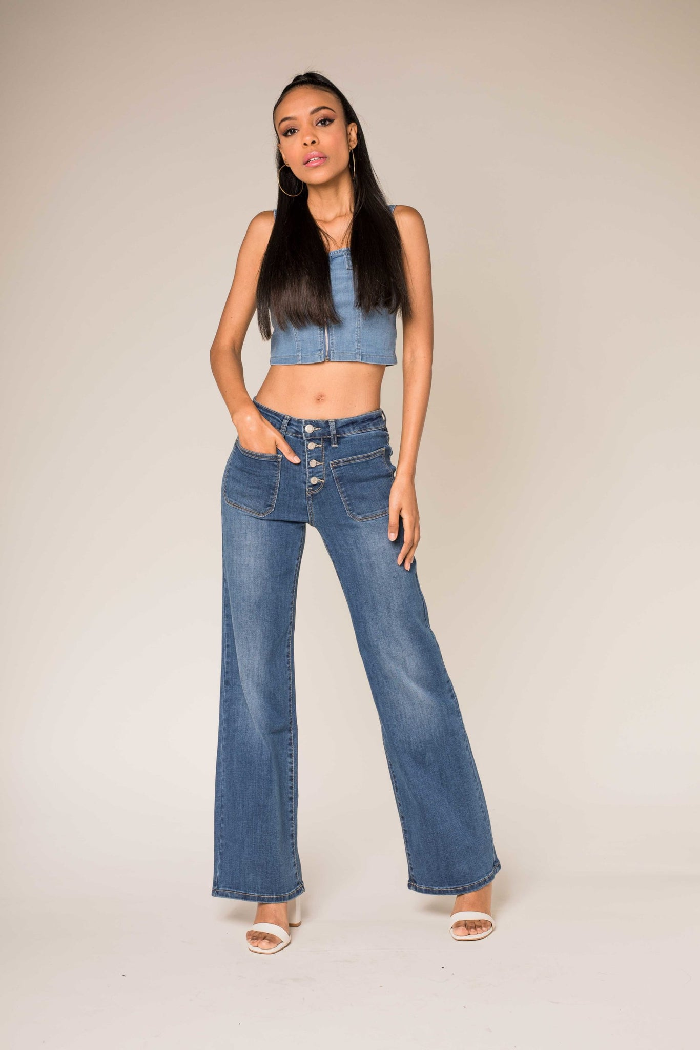 Nina Carter denim pants