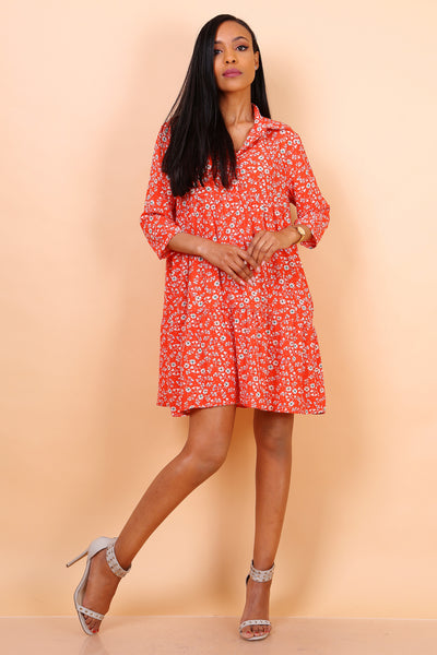 Shirt Dress mini floral