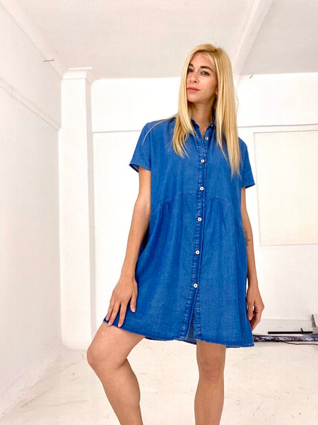 Shirt dress denim mini