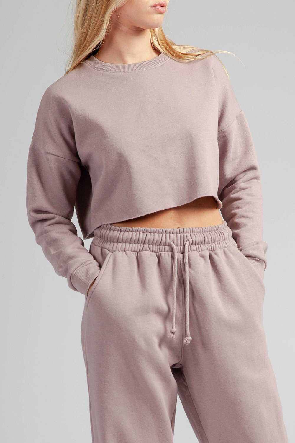 Fleece cropped top