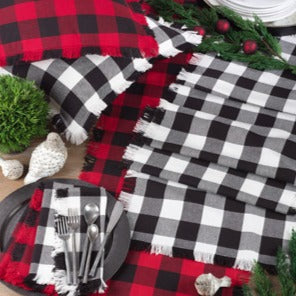 Fringed Buffalo Plaid Runnner