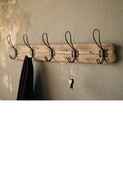 Recycled Wood Coat Rack