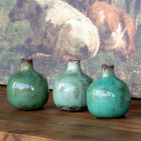 Stoneware Bud Vase (set of 3)
