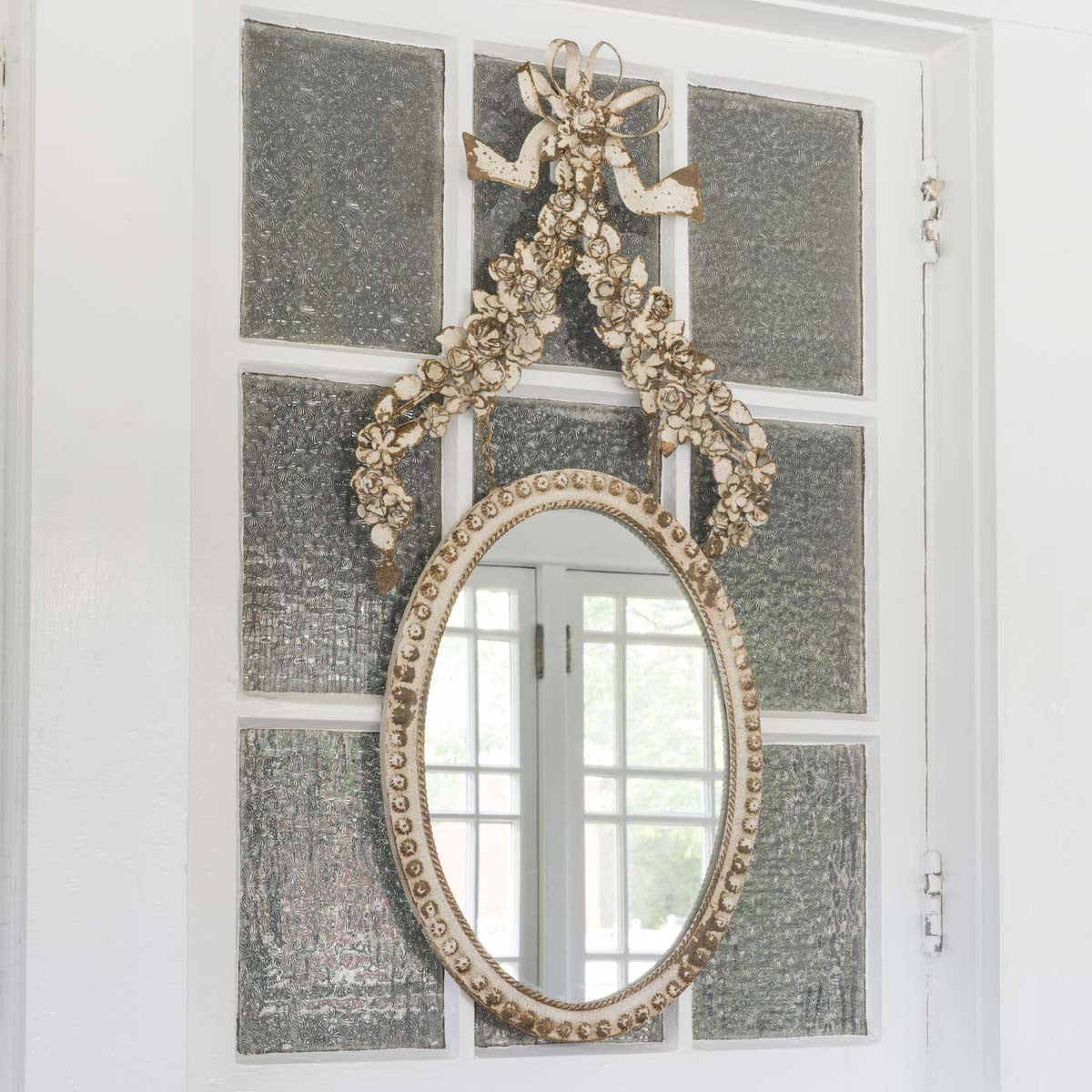Flower Oval Mirror
