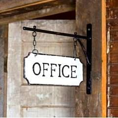 Hanging Office Sign