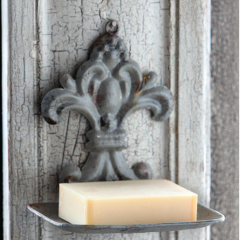 French-Style Tin Soap Holder