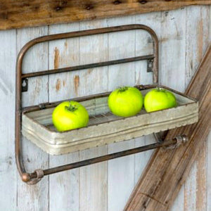 Metal cookhouse towel rack with spice shelf