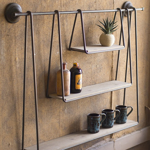 Triple Hanging Shelf