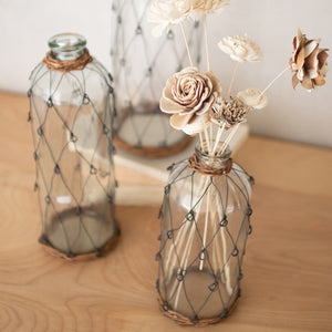 Wire & Wicker Glass Bottles