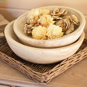 Hand Carved Wooden Bowls (set of 2)
