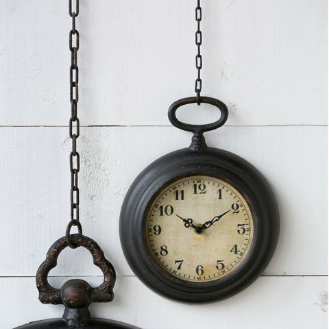 Small Pocket Watch Wall Clock