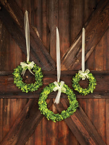 Preserved Boxwood Wreath  (available in three sizes)