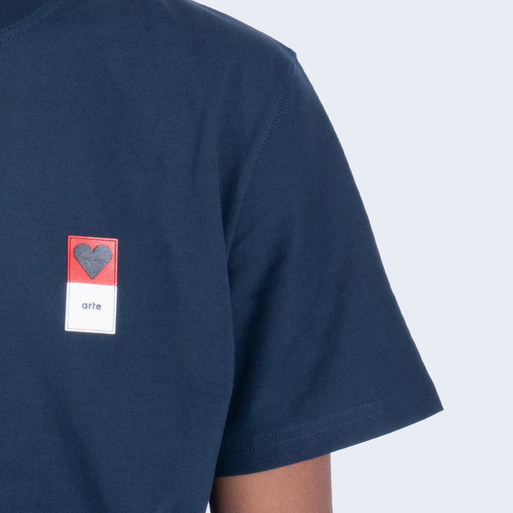 Troy Heart Patch Navy
