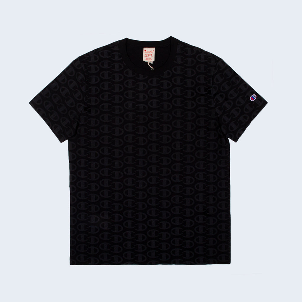 Crewneck T-Shirt All Over Black