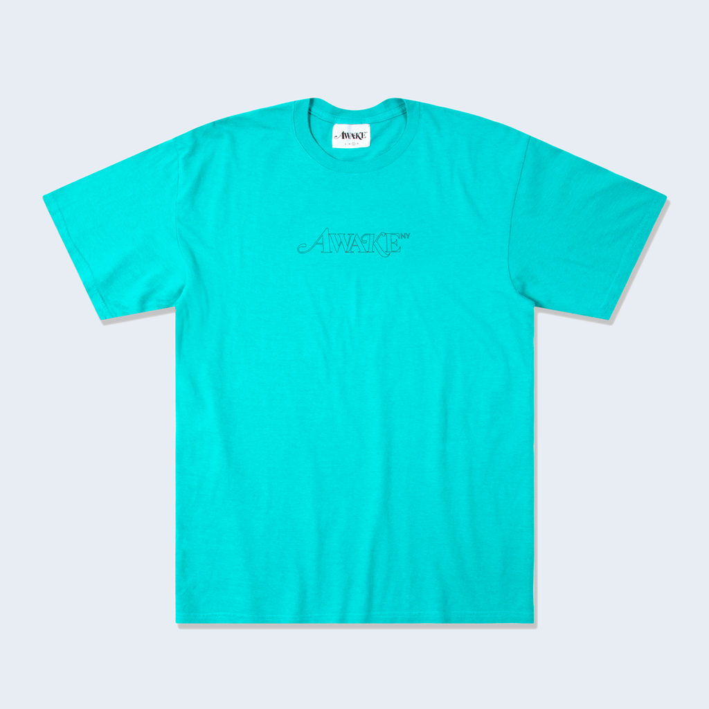 Classic Outline Logo Tee Teal