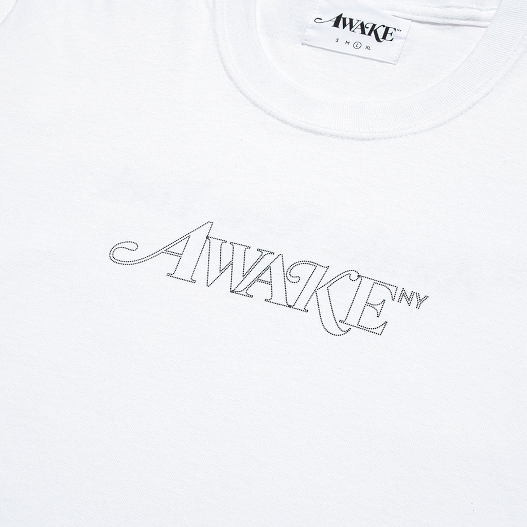 Classic Outline Logo Tee White