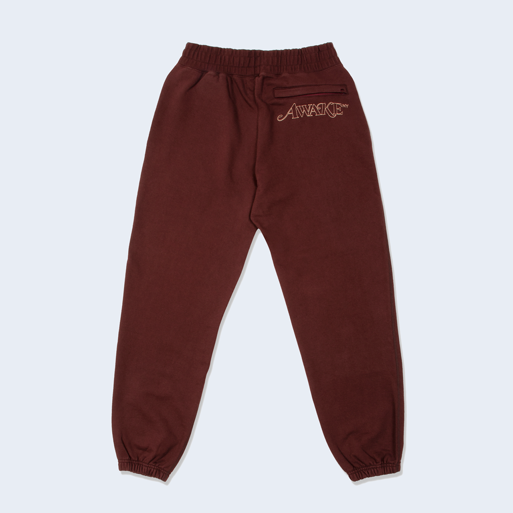 Classic Embroidered Sweatpants Brown