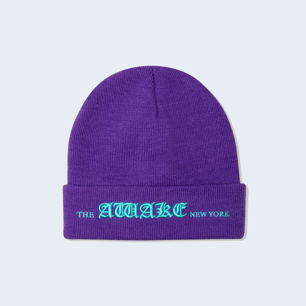 Old English Logo Beanie Violet