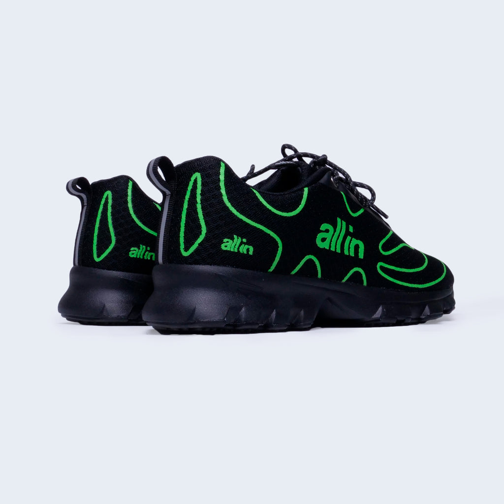 Tennis Shoes Black/Neon