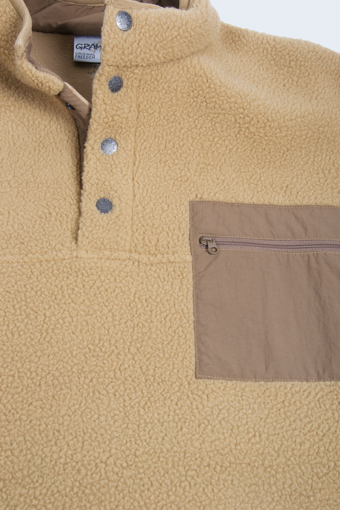 Boa Fleece Pullover Beige