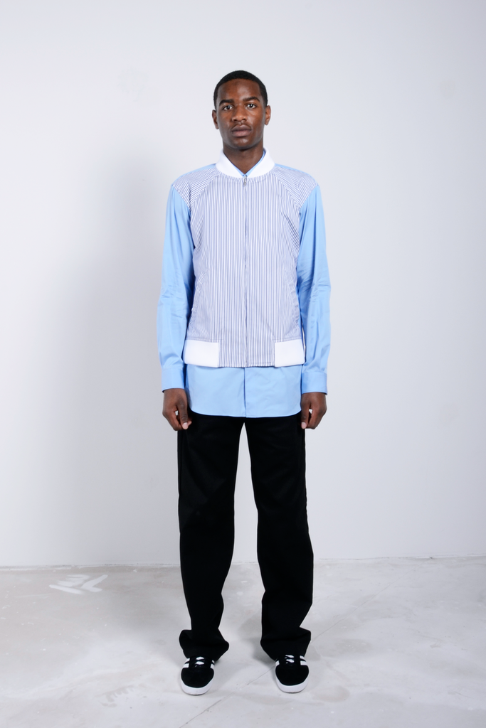 Shirt Woven Mix Stripe / White