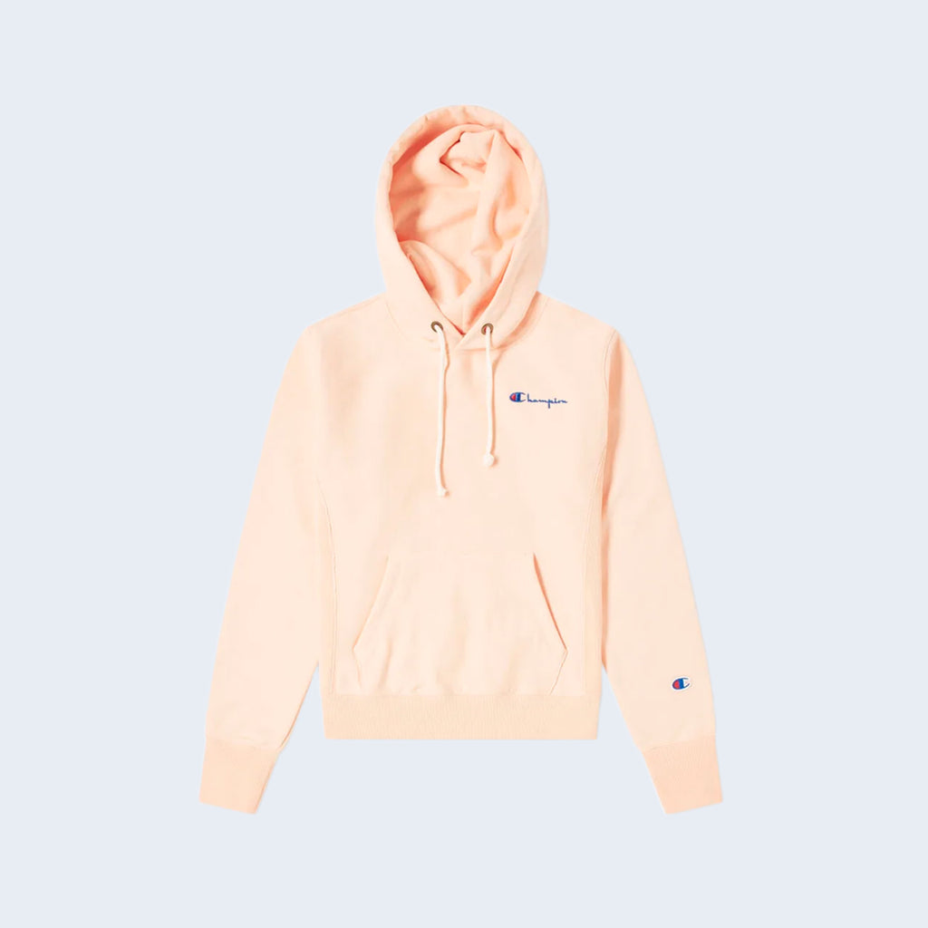 Hooded Cropped Sweatshirt Peach
