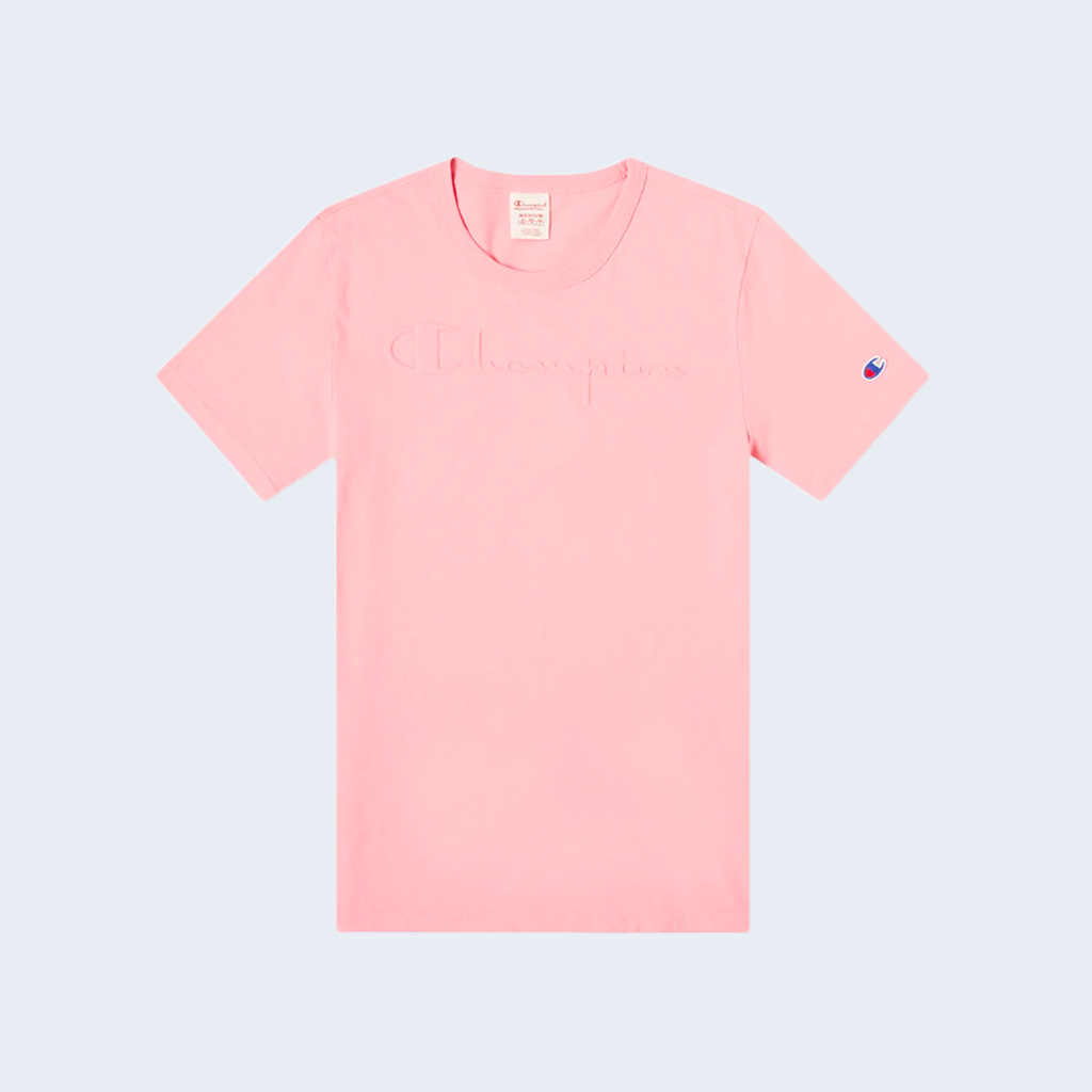 Crewneck T-Shirt Embossed Pink