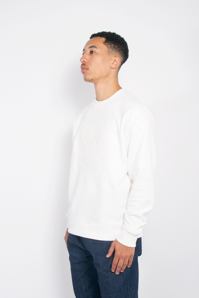 Embroidered Crewneck White