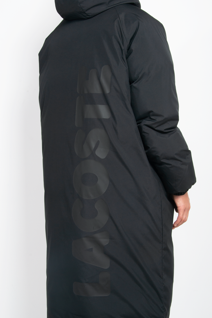 Long Puffer Jacket Black