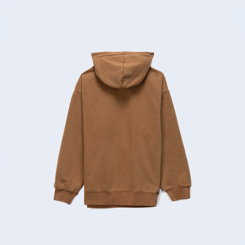 Burn Out Dyed Hoody Olive