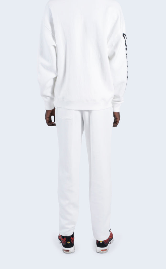Embroidered Fleece Pant Flour