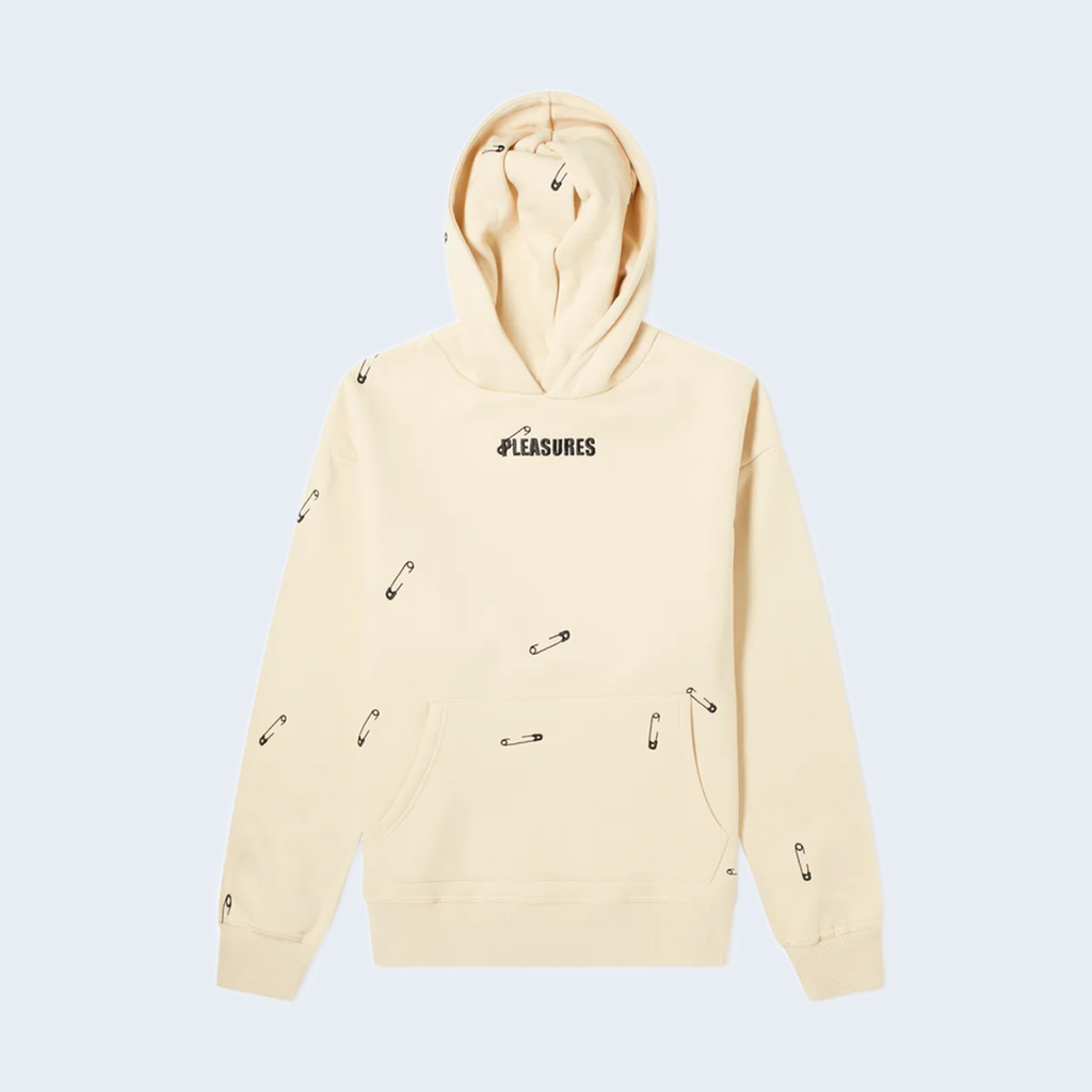 Safety Embroidered Hoody Beige